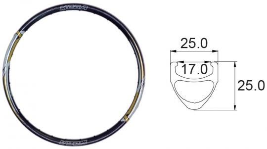 Carbon Rim 17-559 mm Disc 350 gr.