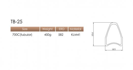 Kinlin TB20 622mm